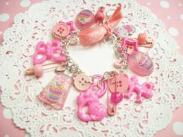 Lolita Pink Charm Bracelet by lessthan3chrissy