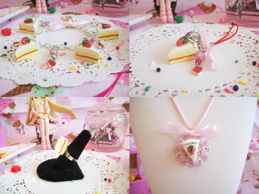 Strawberry Shortcake Jewelry by lessthan3chrissy