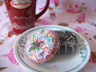 Doughnut Soaps by lessthan3chrissy