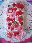 Strawberry iPhone 4 Decoden Case