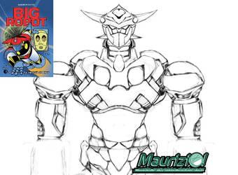 Fan Art - sketch Big Robot by MaurizioXD