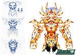Fan Art - Sketch Gold Saint Cancer Death Mask