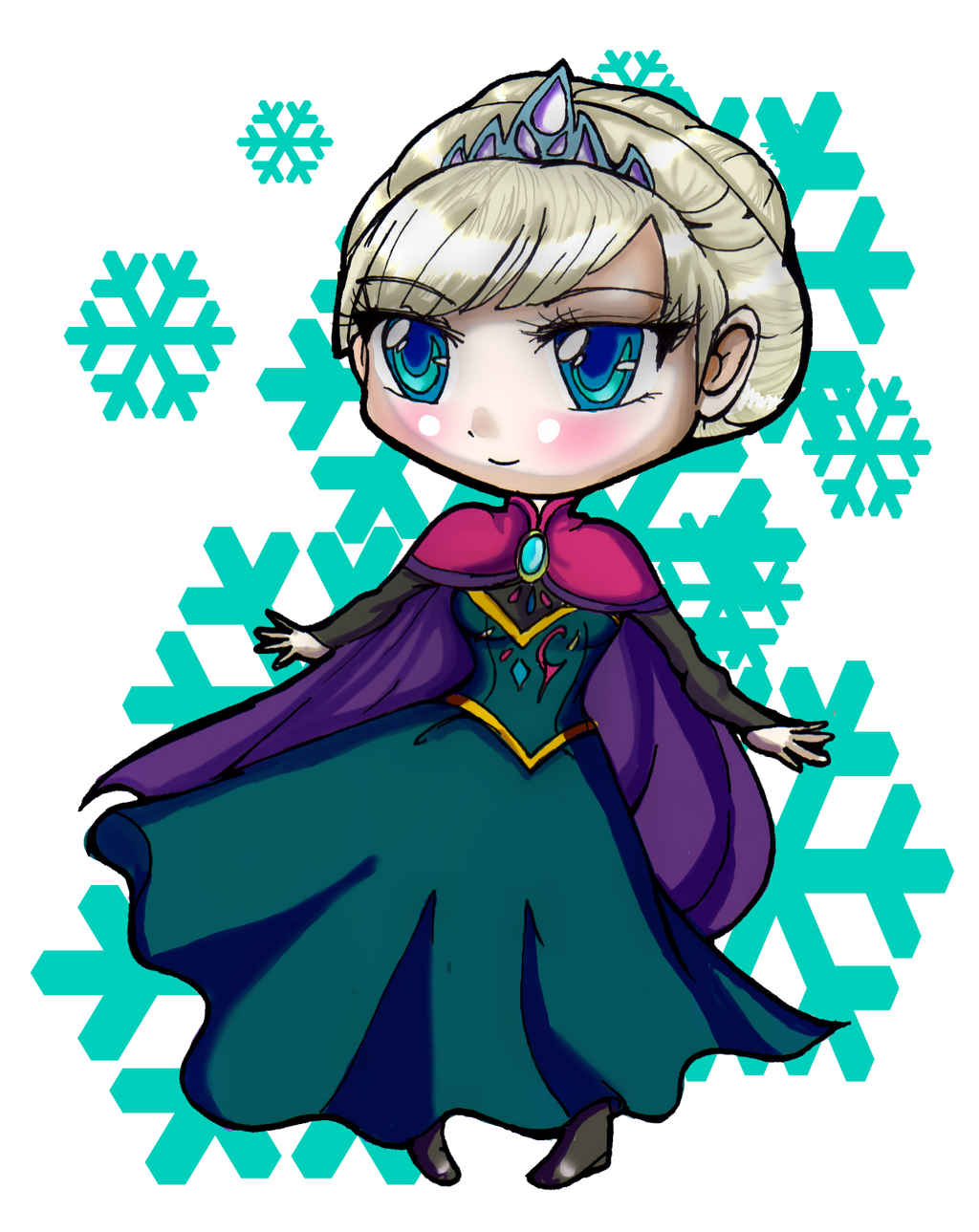 ... media drawings 2014 2015 danielle chan wanted to draw elsa in her