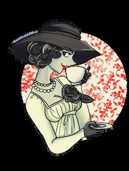 The lady Dimitrescu