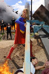 Supergirl refuses to kneel before Zod