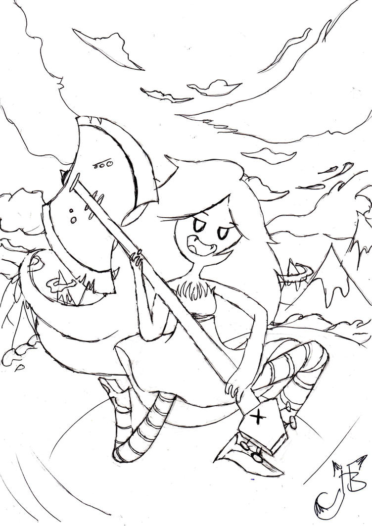 Marceline colouring page by hannahblahhh on deviantart for Marceline coloring pages