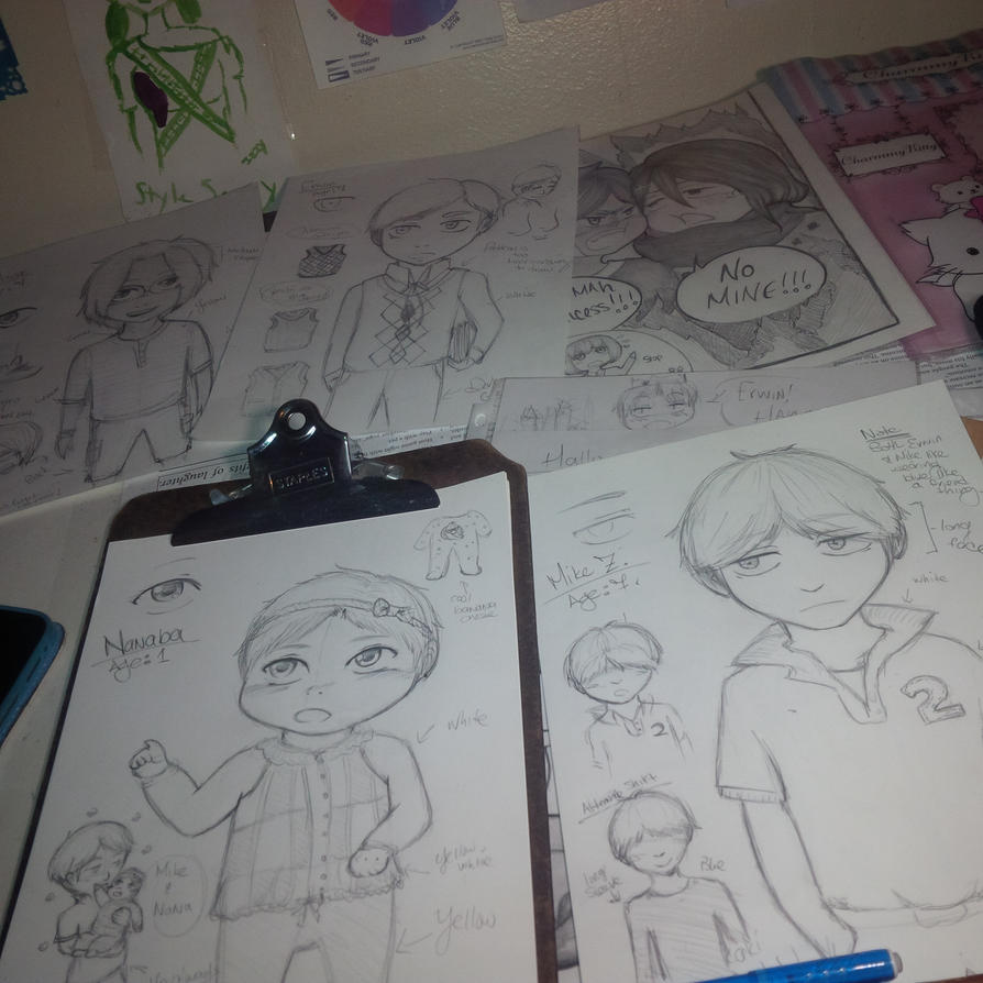 Snk Daycare Comic WIP Sketches by Zerolr-RM