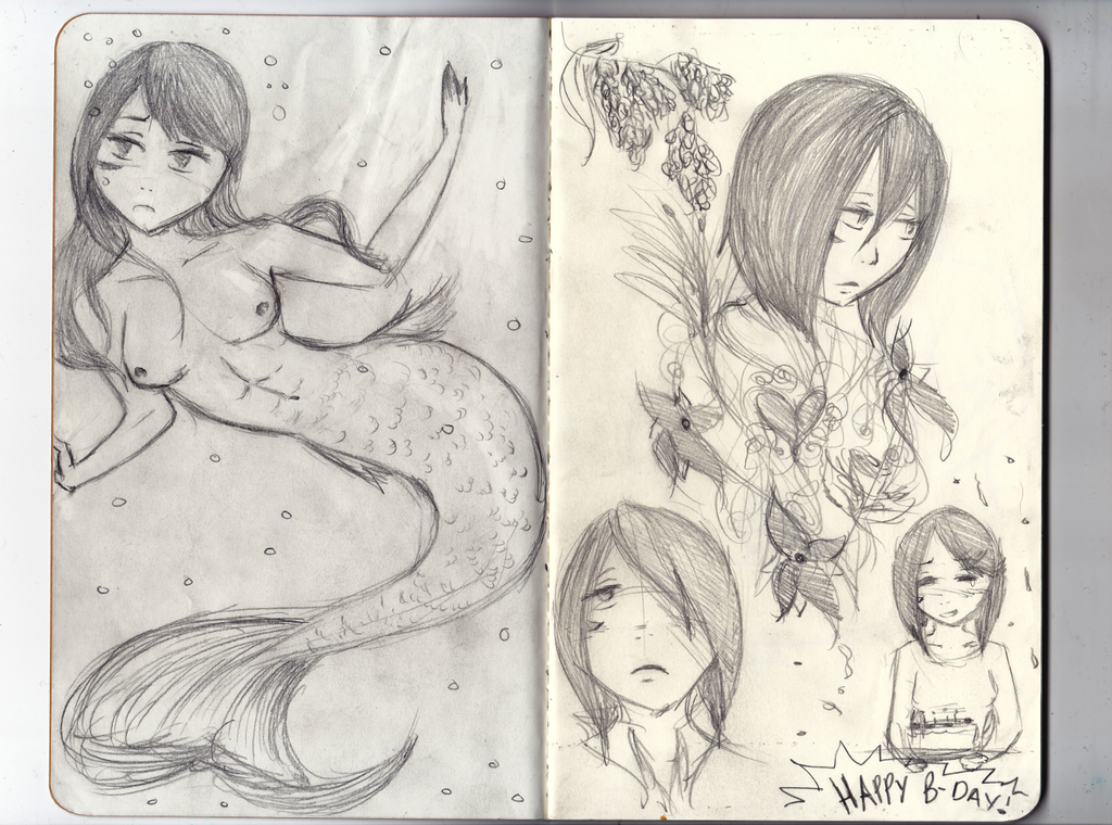 Mikasa B-day Sketches by Zerolr-RM