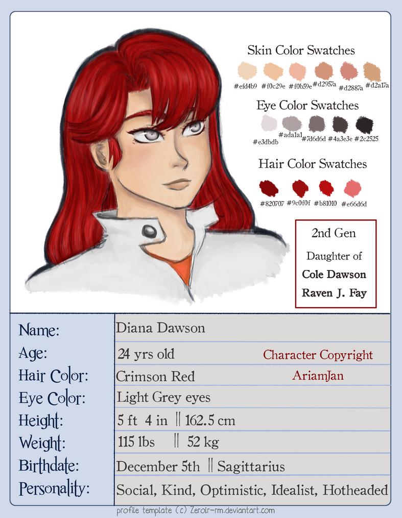 Profiles: Diana Dawson by Zerolr-RM
