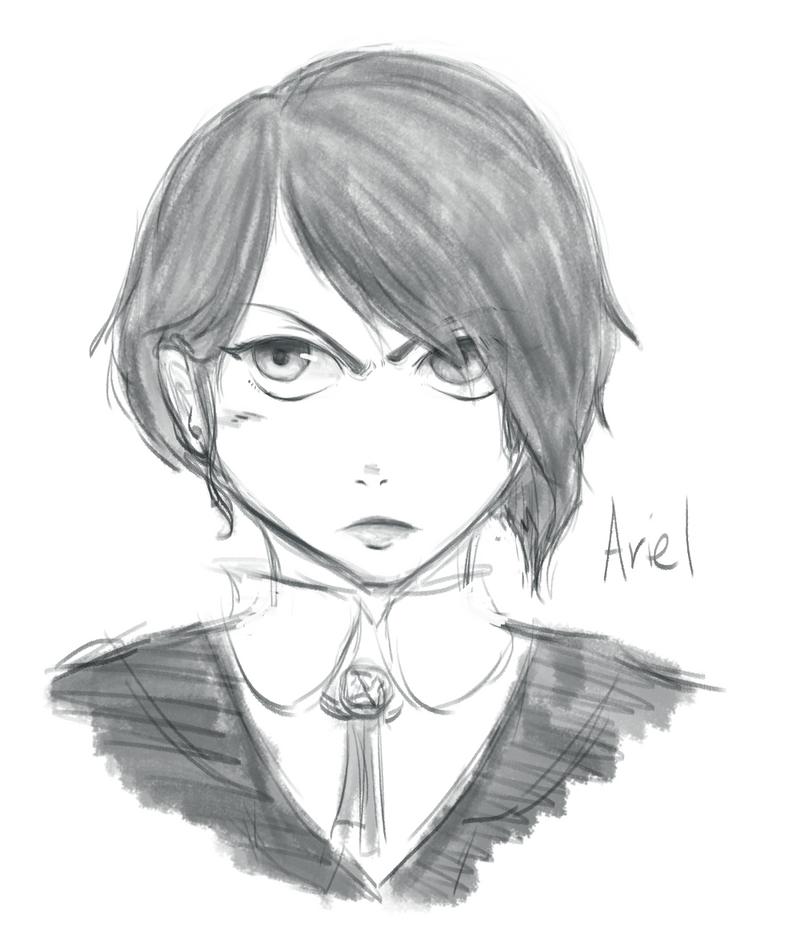 Adult Ariel sketch by Zerolr-RM