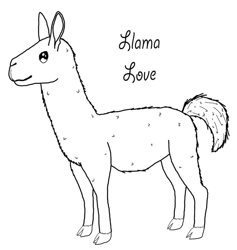 baby llama coloring pages - photo#24