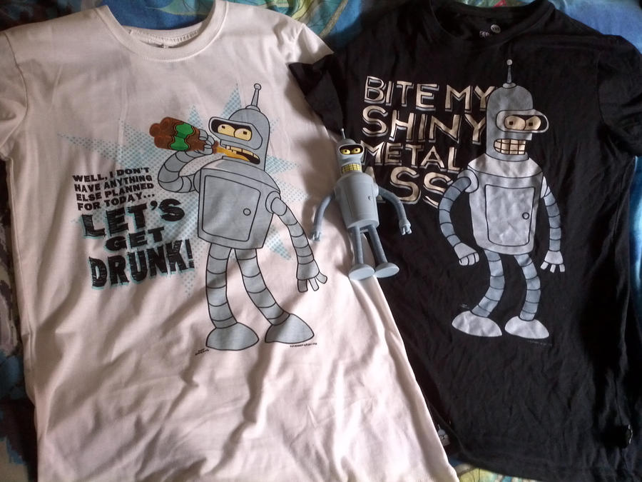 2 Futurama shirts plus one Bender Equals Awesomess by LugiaUmbreonPower