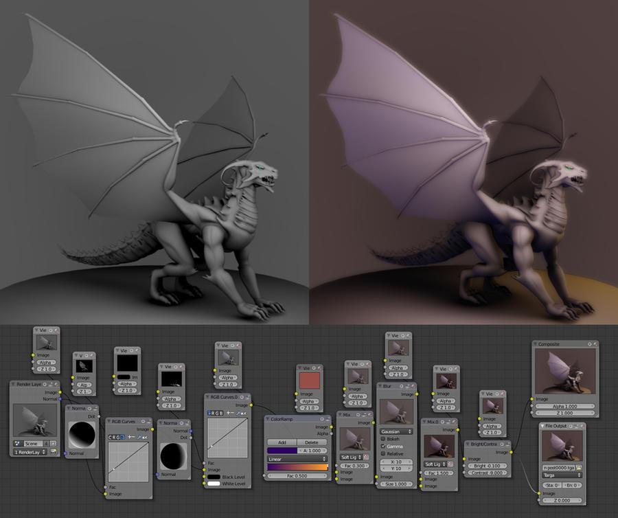 Blender Dragon W.I.P by Magna-omega