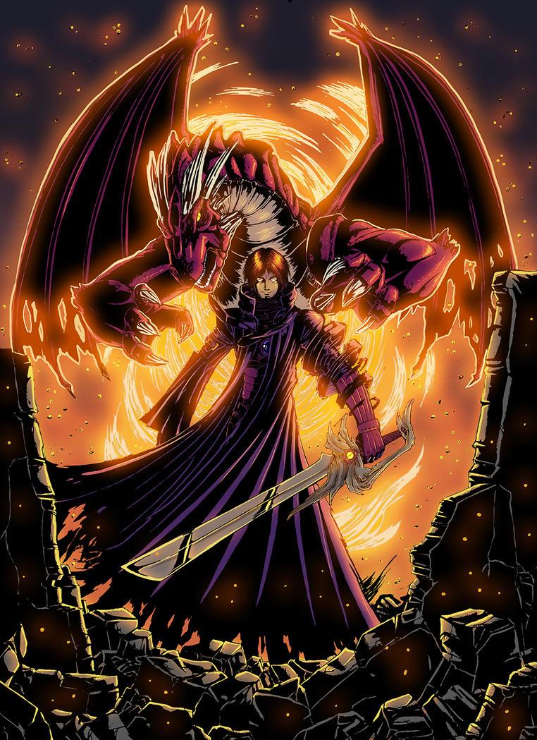 Black Fire Dragon Yugioh Dragon summoner by Mag...