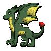 Free green dragon icon by b24beanz