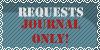 Requests Stamp Journal's Only! free for use by b24beanz