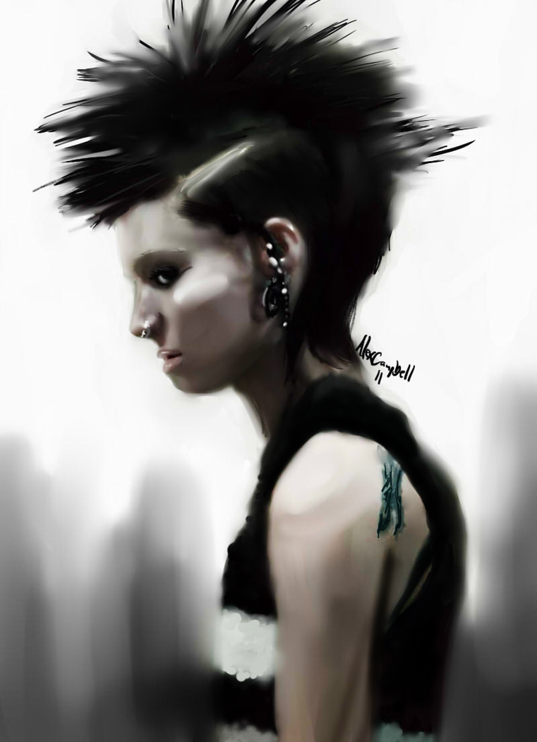 The girl with the dragon tattoo by feraldonkey on deviantart for Girl with dragon tattoo