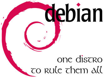 Debian - One Distro - White by crazycomputers