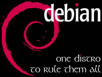 Debian - One Distro - Black by crazycomputers