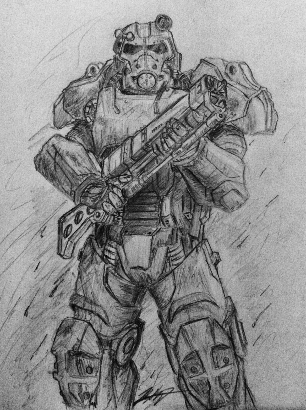 T-60b Power Armor - Fallout 4 by Silent-Valiance on DeviantArt