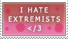 I HATE Extremists by lulubellct