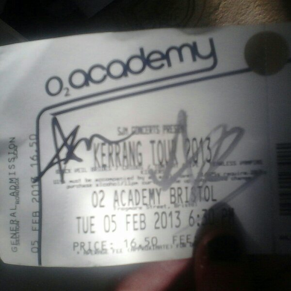 Andy And Ashley Signed My Ticket! *0* by WeFallLikeAngels19