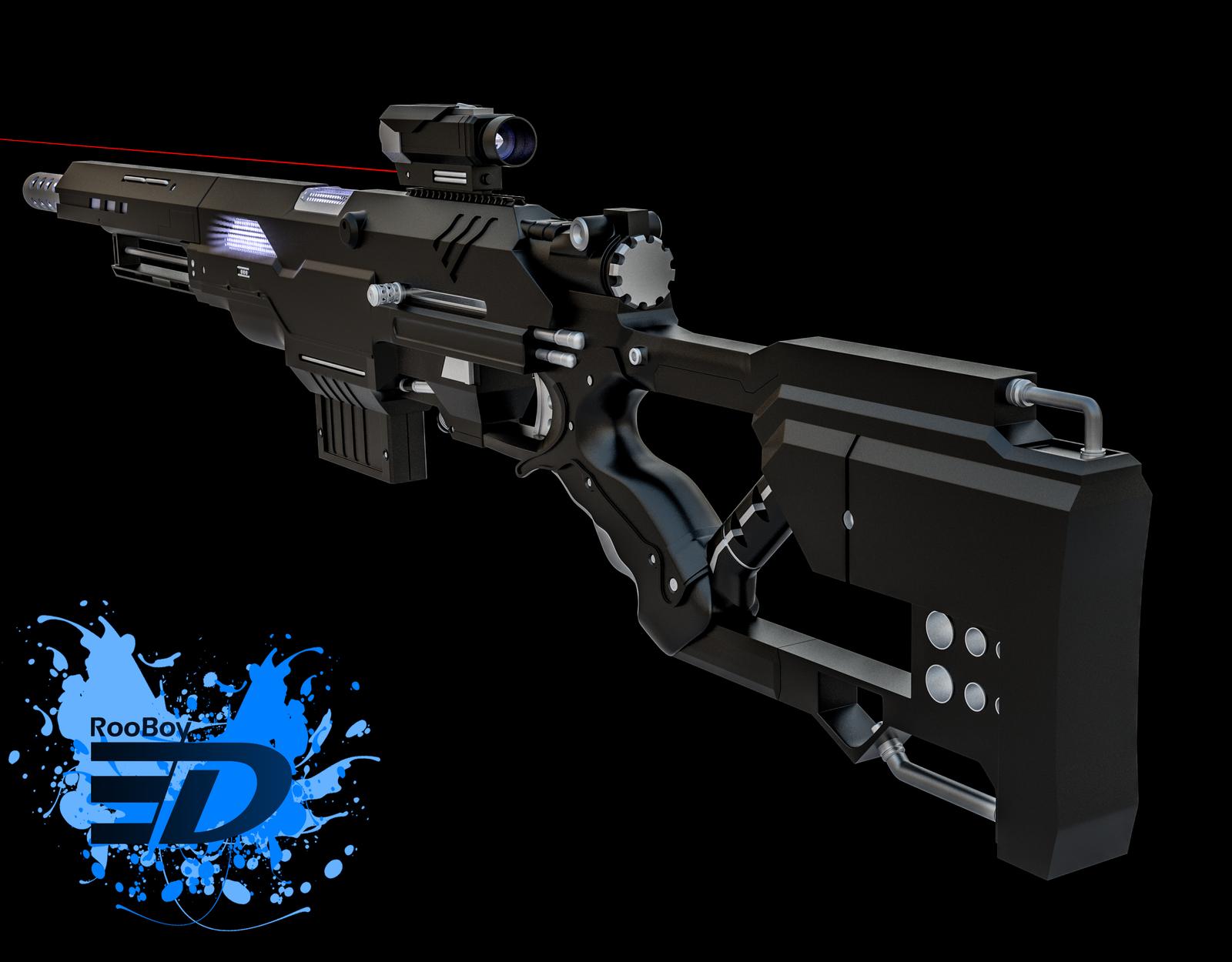 future nerf gun rear by rooboy3d on deviantart