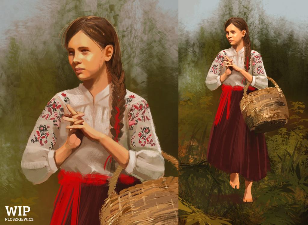 WIP Slavic girl by mousez
