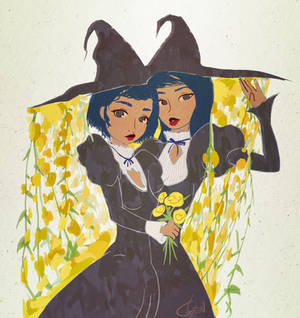 Yellow Rose Lesbian Witches of Summer Solstice