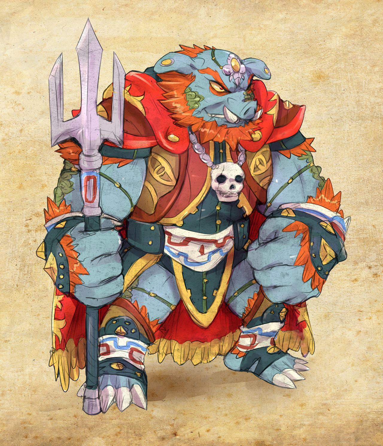 GANON Redesign - [ZELDA - A Link to the Past] by Cylent-Nite