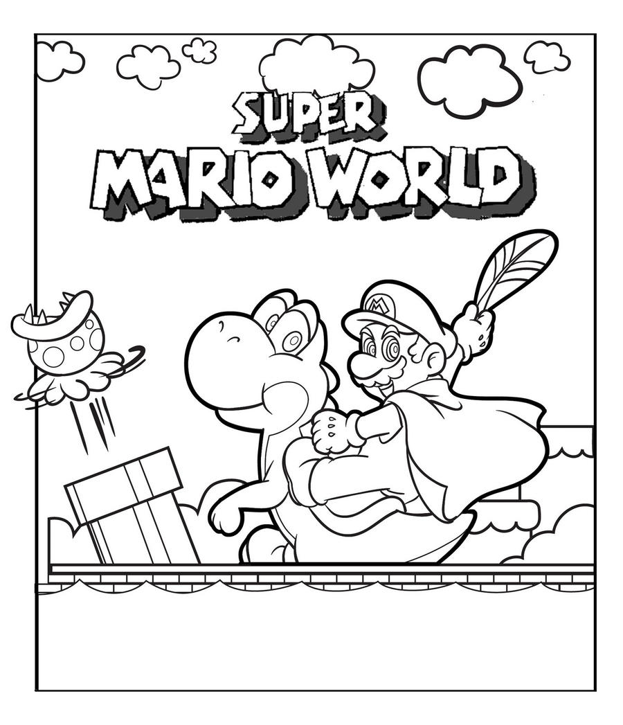 connolystudios2 5 1 super mario world colour in by connolystudios2 - Colour In Pictures