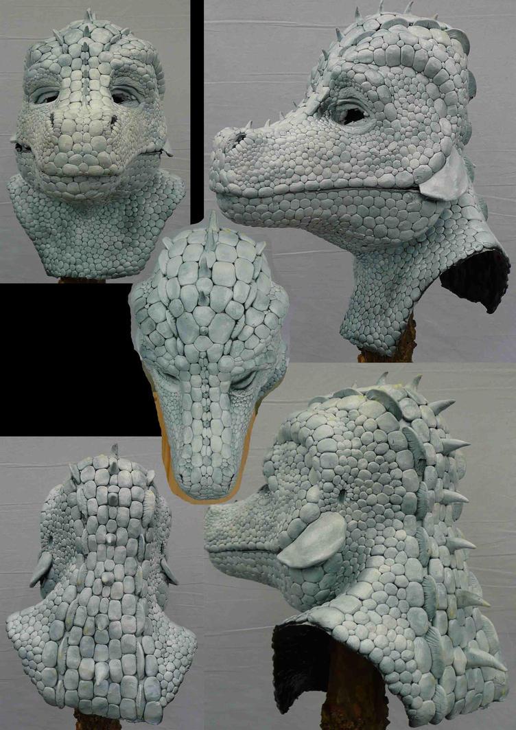 larp Croc Dundee Mask albino by Arooki