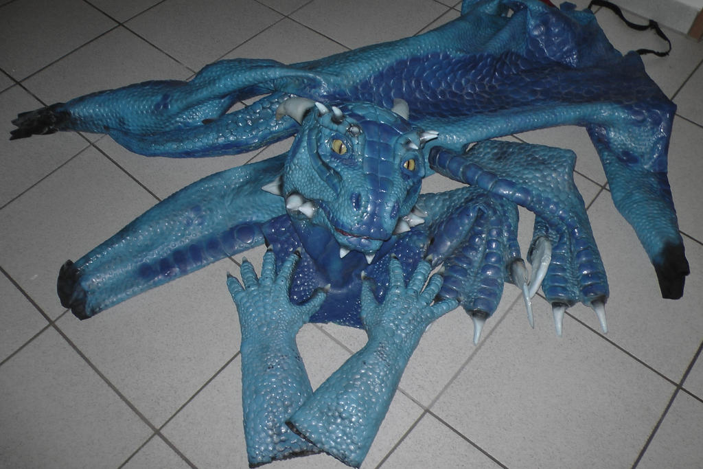 Blue Latex Argonian Suit by Arooki