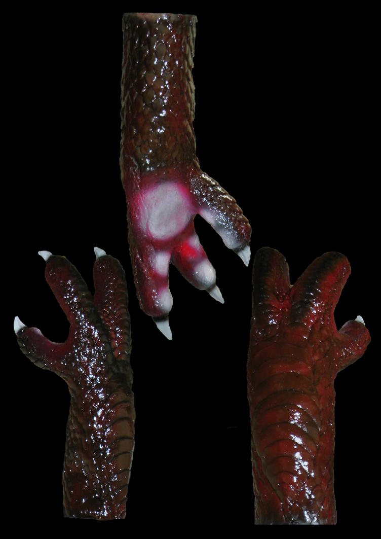 Latex 3-Finger Dragon Hands by Arooki