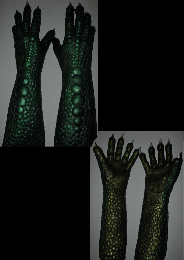 New Lizard Hand Design by Arooki