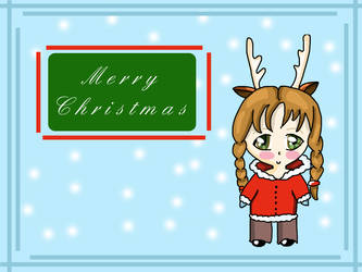 Christmas chibi Wallpaper by twisted-bunnies