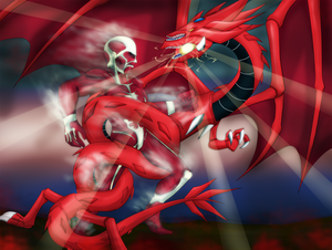 Colossal Titan vs The sky dragon of Osiris