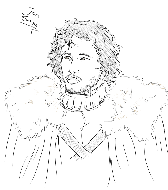 how to draw jon snow
