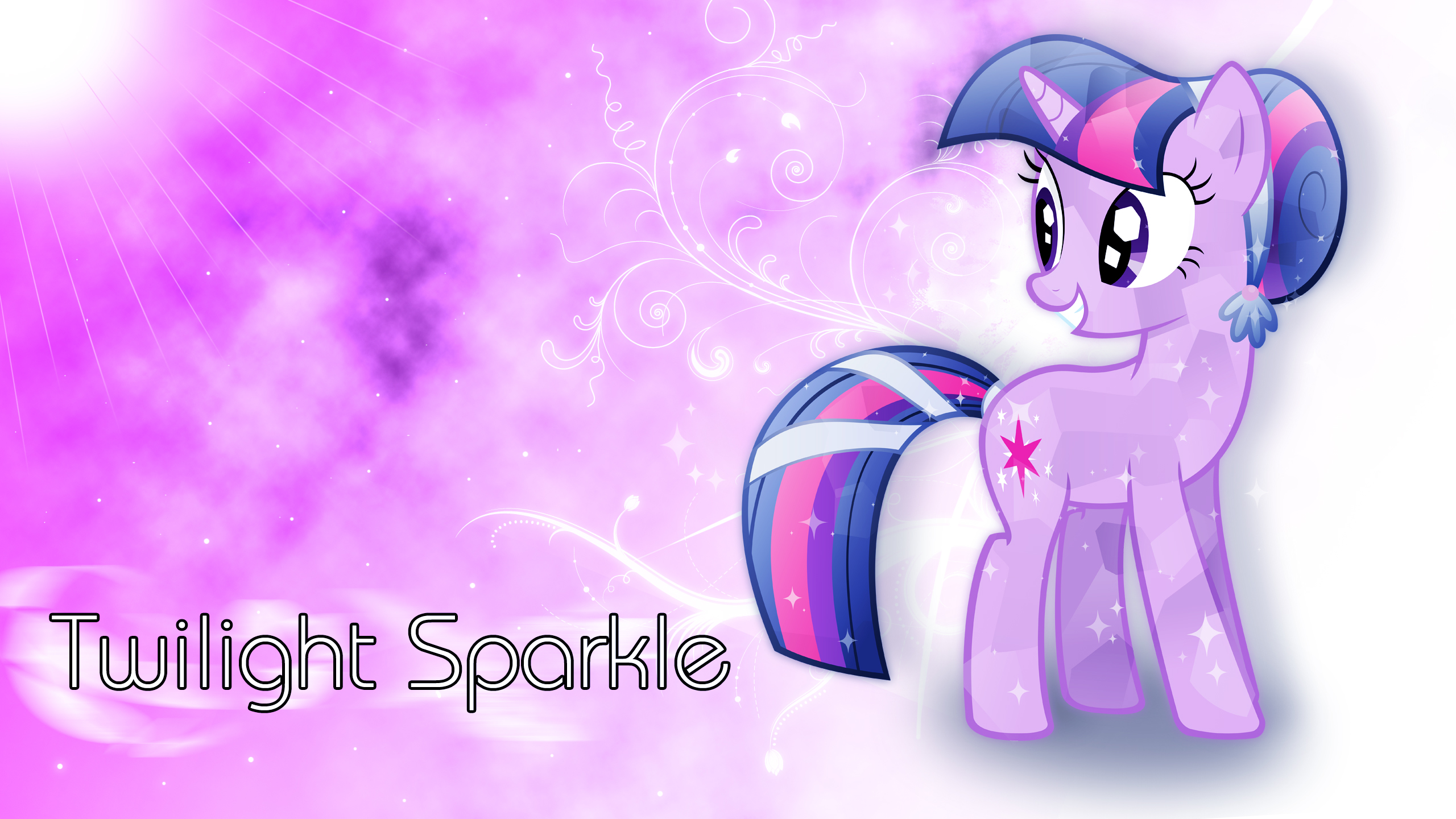 Crystal Twilight Sparkle Wallpaper by ALoopyDuck