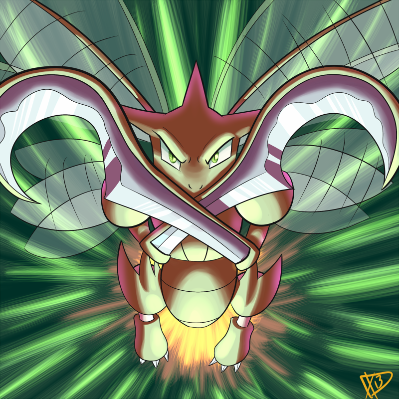 Day 1-Scyther by ParadigmPizza