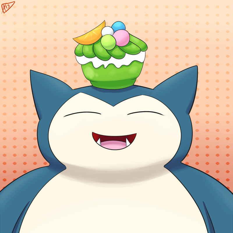 Day 13-Snorlax by ParadigmPizza
