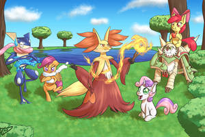 Fun Times with Crusaders and Pokemon by ParadigmPizza