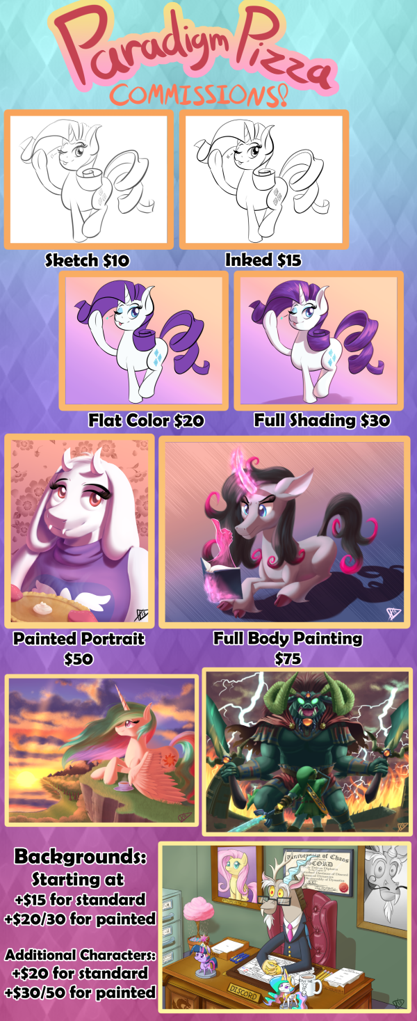 Commission Info by ParadigmPizza
