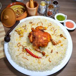 Chicken peryani with rice