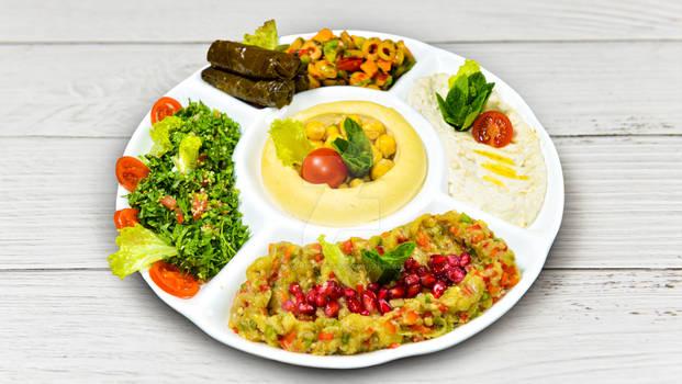 Arabic food of Hommos