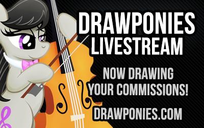 Livestream.com/drawponies by octavia-plz