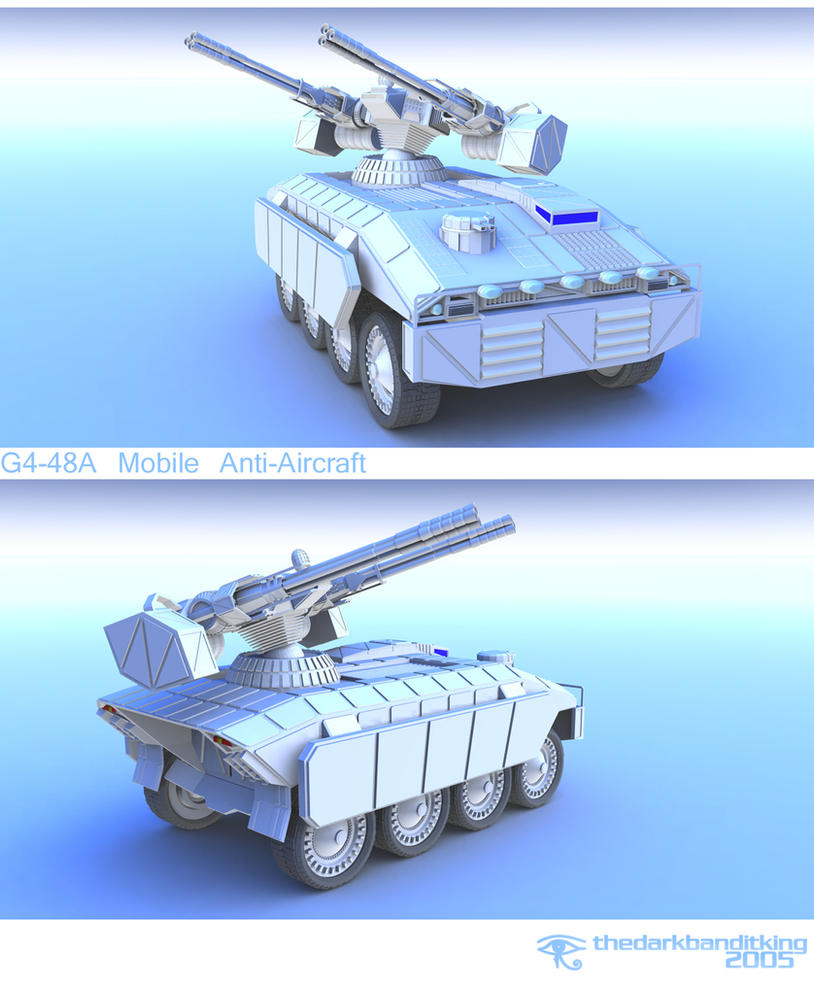 G4-48A Mobile Anti-Aircraft by TDBK