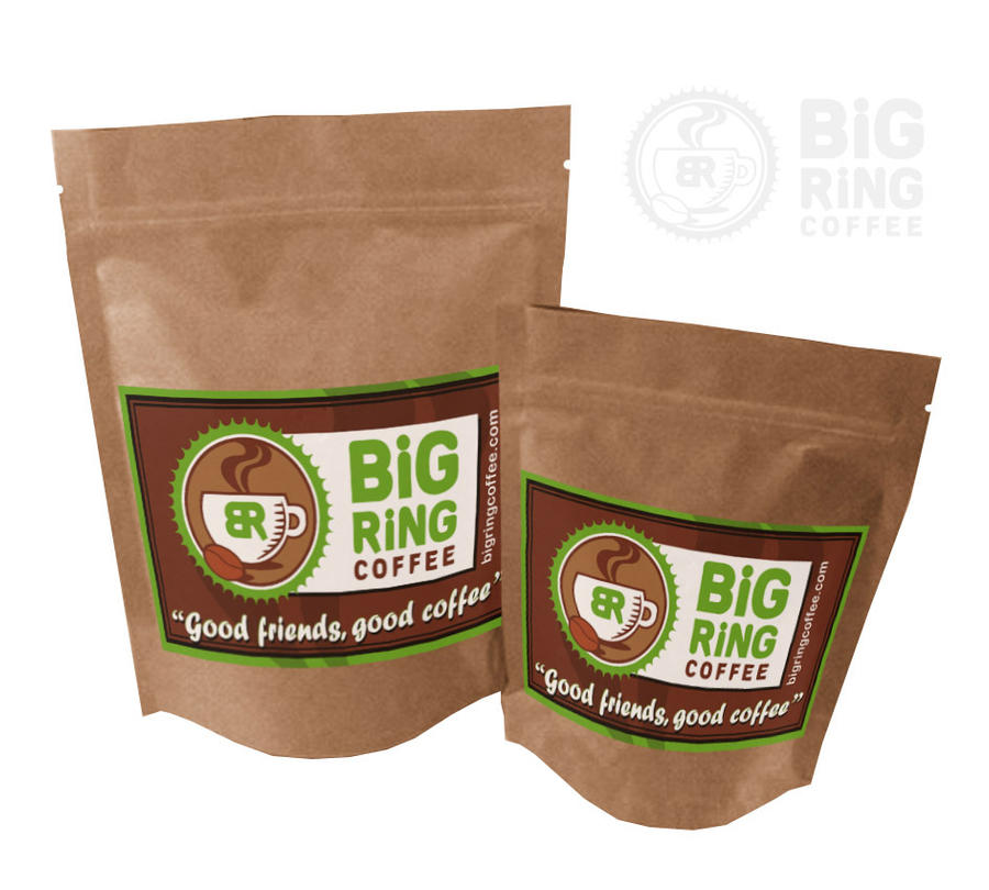 Coffee bag label design by muzski