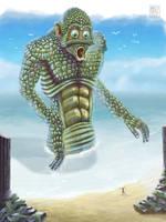 beach creature redux by muzski