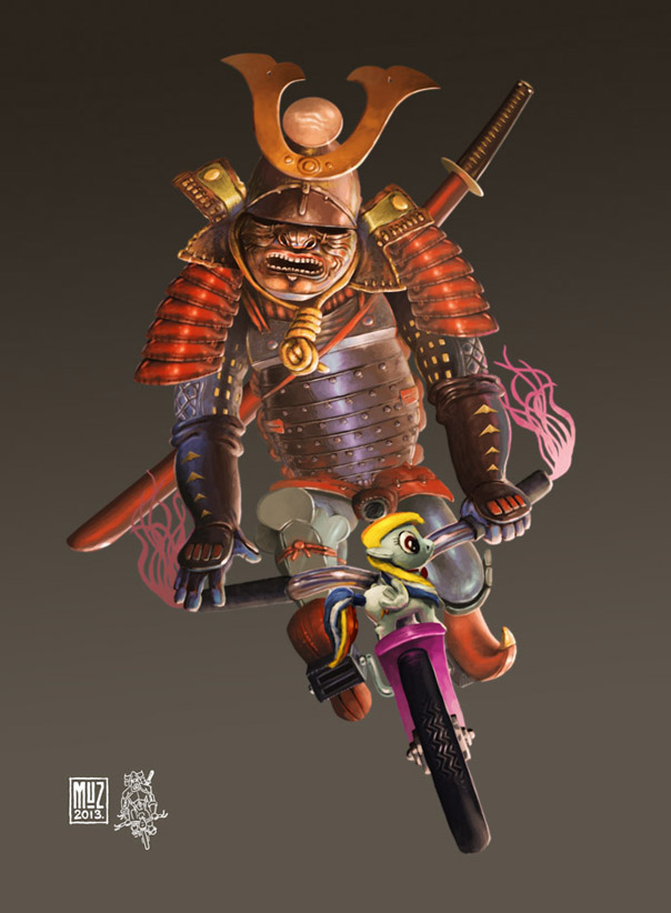 Samurai Cyclist by muzski